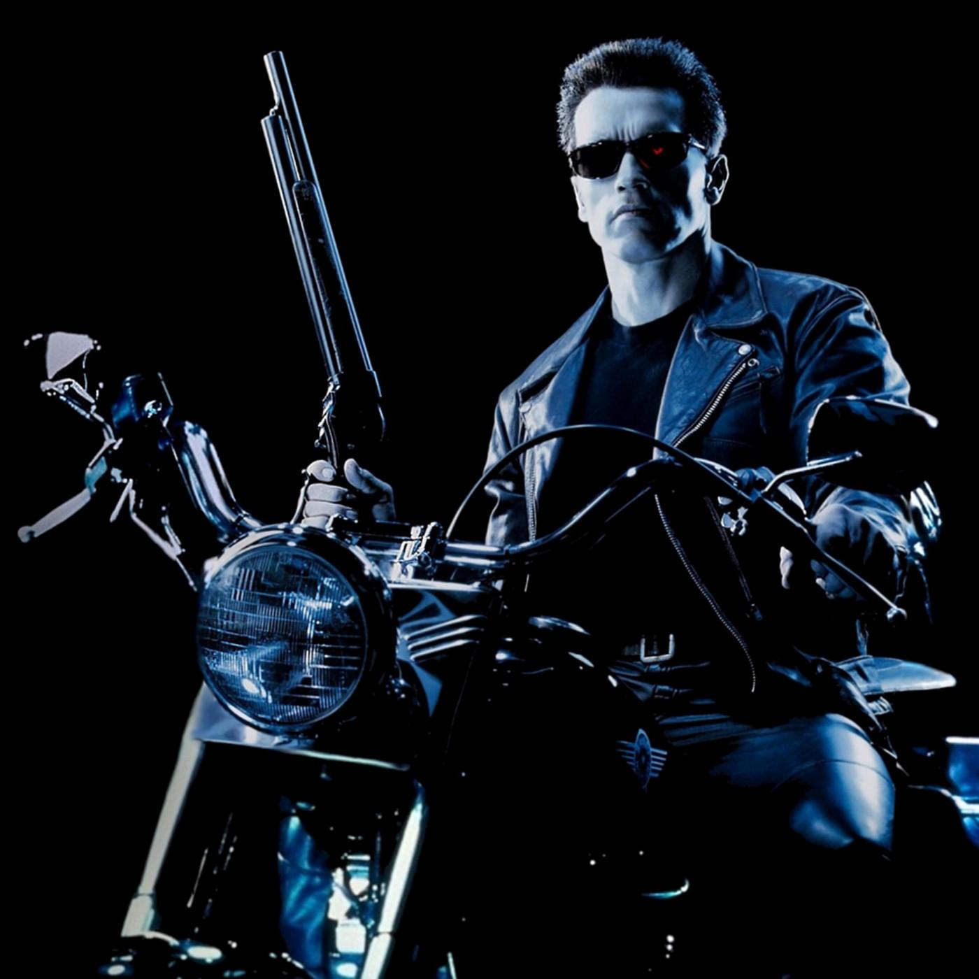 Terminator movie poster linen backed