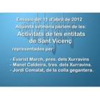Activitats de les entitats de Sant Vicenç. 11 d'abril de 2012