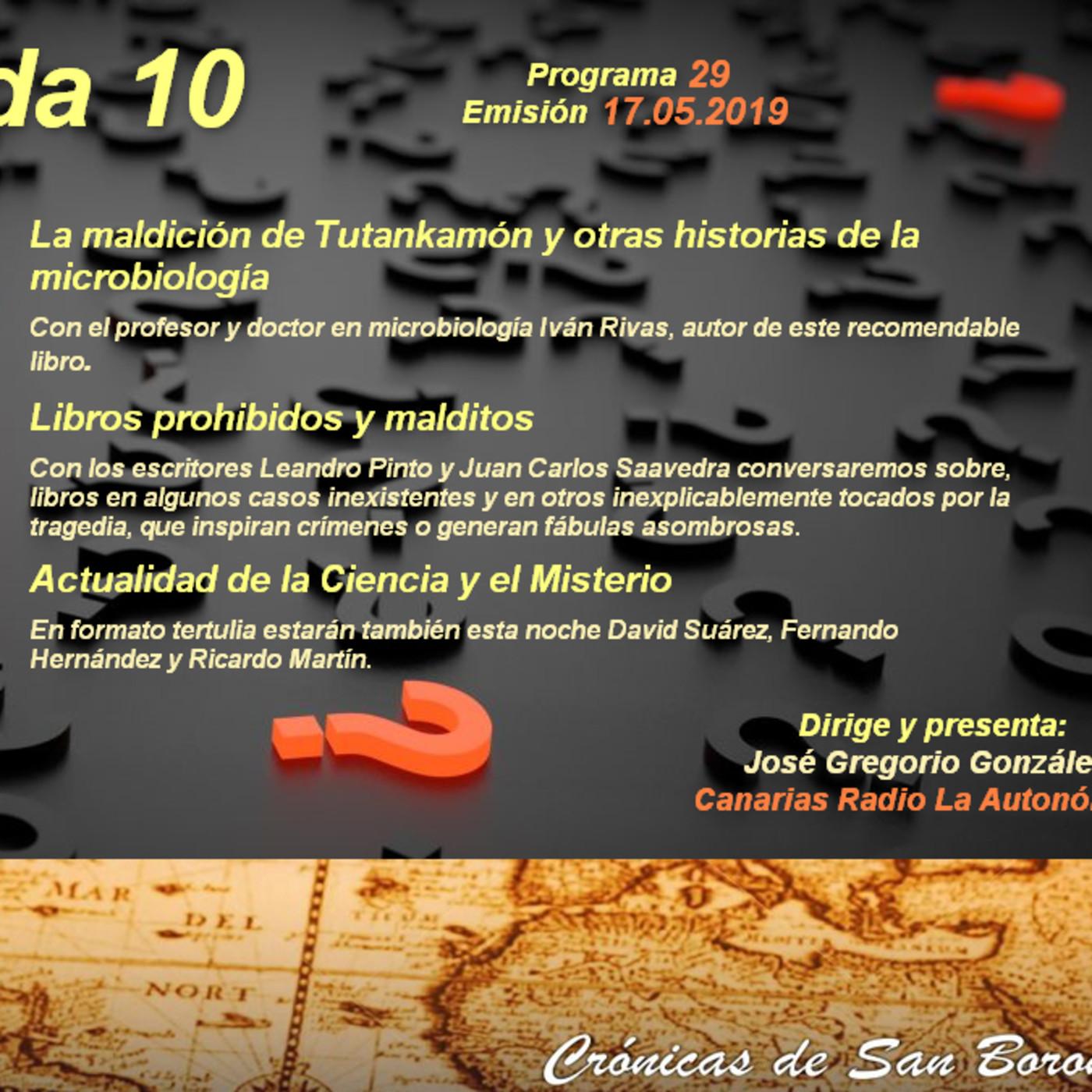 T10x29] Libros prohibidos y malditos|Tutankamón y la microbiología ...