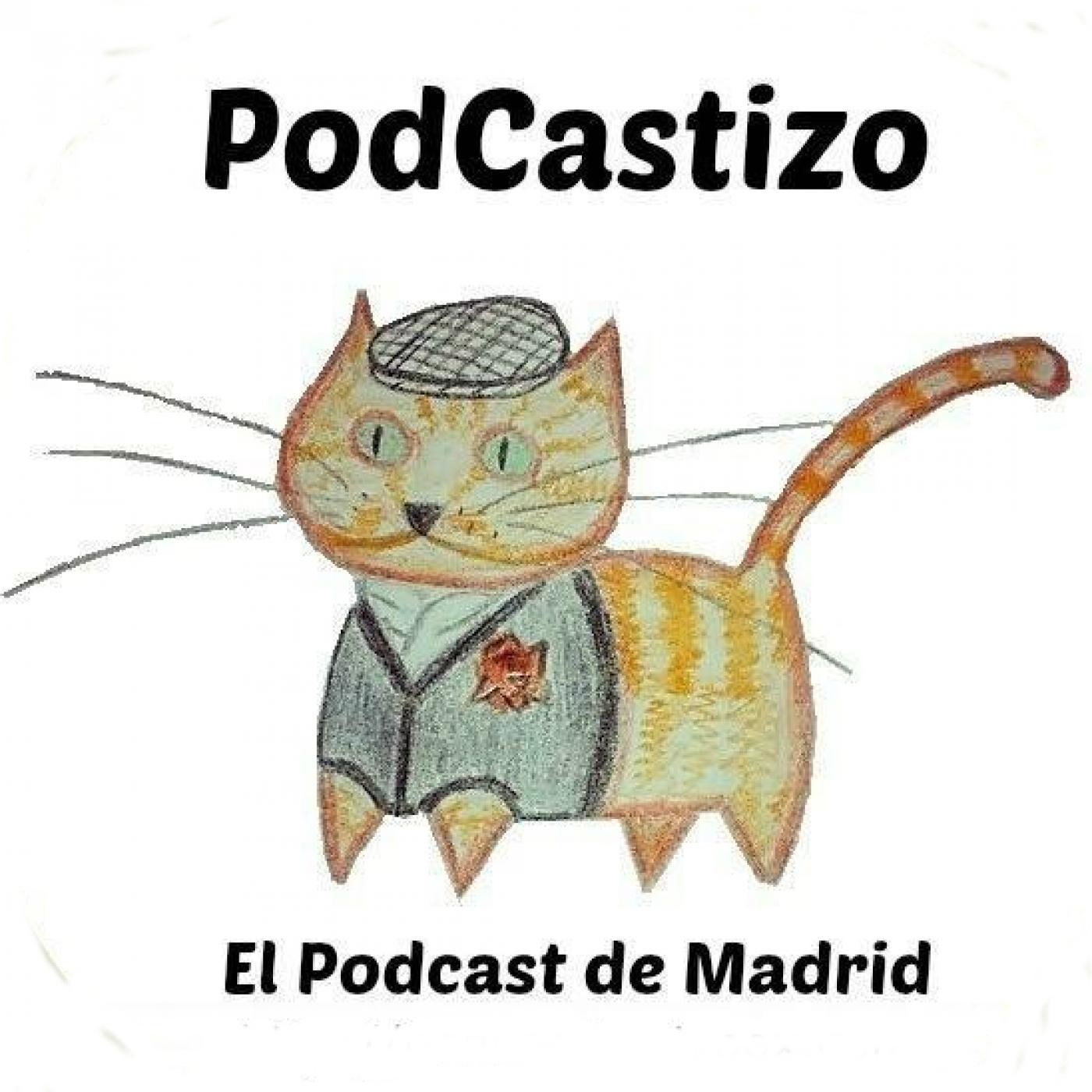 Logo de PodCastizo, el podcast de Madrid