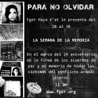 Semana de la Memoria - Maya K´at