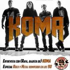 Corsarios - Dom 11 Nov 2018 - Entrevista KOMA y especial metal en los 90