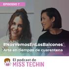 Vera Galindo y Laura Alloza de #NosVemosEnLosBalcones, arte en tiempos de cuarentena