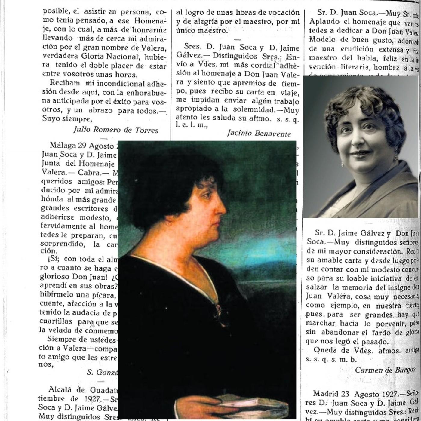 LA HISTORIA ENTRE LÍNEAS: Carmen de Burgos y su relación con Cabra