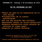 El Cronovisor. Programa 64. Agua en Europa, Inundaciones en el Mediterráneo, El gusano del diablo...