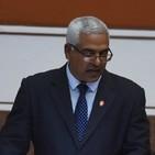 Oscar Manuel Silvera Martínez, Ministro de Justicia, en Sesión previa a la Asamblea Nacional. Audio 1