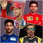 F1 BANDERA A CUADROS 4X14 - Sainz a Ferrari, Ricciardo a McLaren y Vettel piensa en la retirada