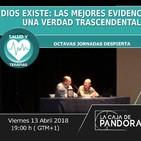 Octavas jornadas despierta. Miguel Pedrero 'dios existe: las mejores evidencias de una verdad trascendental'.