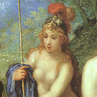 La diosa griega de la guerra y la sabiduría Atenea