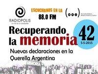 Nuevas declaraciones en la Querella Argentina