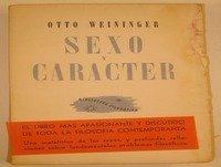 MEX-05 Otto Weininger,Sexo Y Carácter,Segunda Parte,O Principal Los Tipos Sexuales