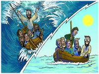 Lectura en inglés: Jesús calmando la Tormenta