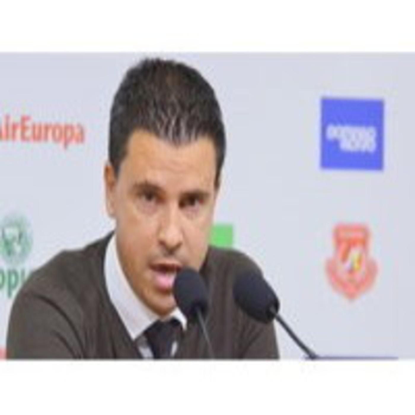 Sergio lobera. Rueda de prensa despedida de la UD Las Palmas.