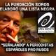 #Fundación #Soros elaboró #ListaNegra señalando a #Periodistas #Españoles pro rusos #Rusia #OpenSocietyFoundations