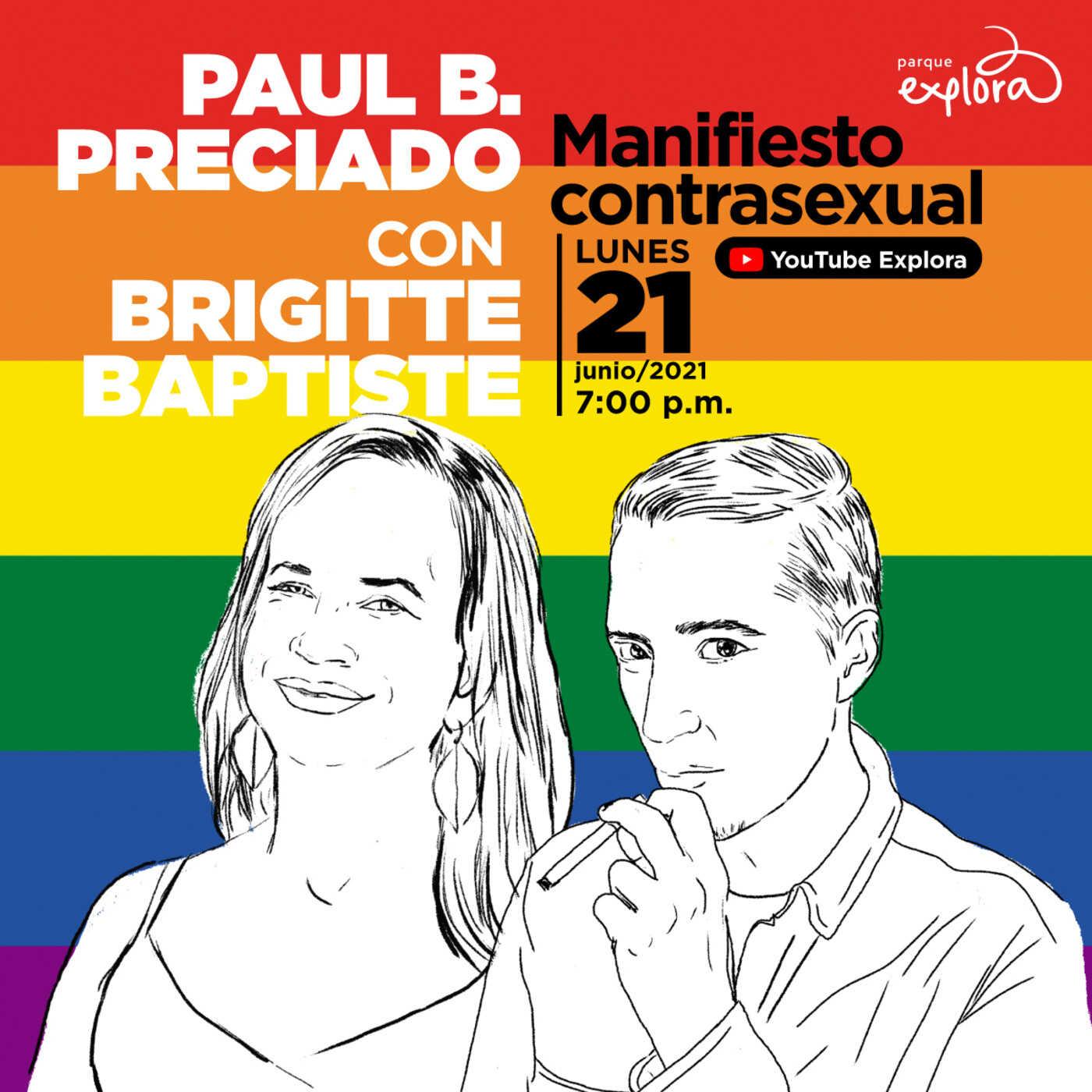Paul B. Preciado con Brigitte Baptiste   Manifiesto contrasexual   Parque Explora