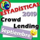 ESTADÍSTICAS CROWDLENDING - Oleada Septiembre 2019 - Volumen de negocio, inversores registrados, rentabilidad...