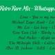 RETRO RARE MIX - WhatsappMix - SergioDj