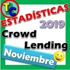 ESTADÍSTICAS CROWDLENDING - Oleada Noviembre 2019 - Volumen de negocio, inversores registrados, rentabilidad...