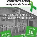 Concentración y charla sobre la sanidad pública en Aguilar de Campoo