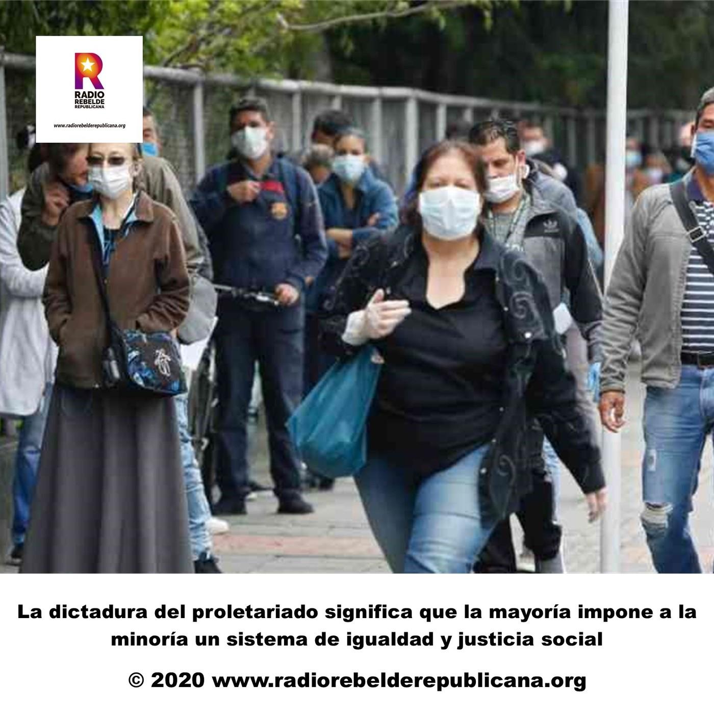 La dictadura del proletariado significa que la mayoría impone a la minoría un sistema de igualdad y justicia social