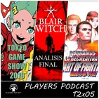 PLAYERS PODCAST T2x05. Tokyo Game Show 2019, Blair Witch, Insert Coin: Art Of Fighting Arcade y mucho más...