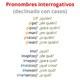 11 Pronombres interrogativos declinados