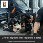 Con los republicanos la policia a palos
