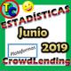 ESTADÍSTICAS CROWDLENDING - Oleada Mayo/Junio 2019 - Volumen de negocio, inversores registrados, rentabilidad...