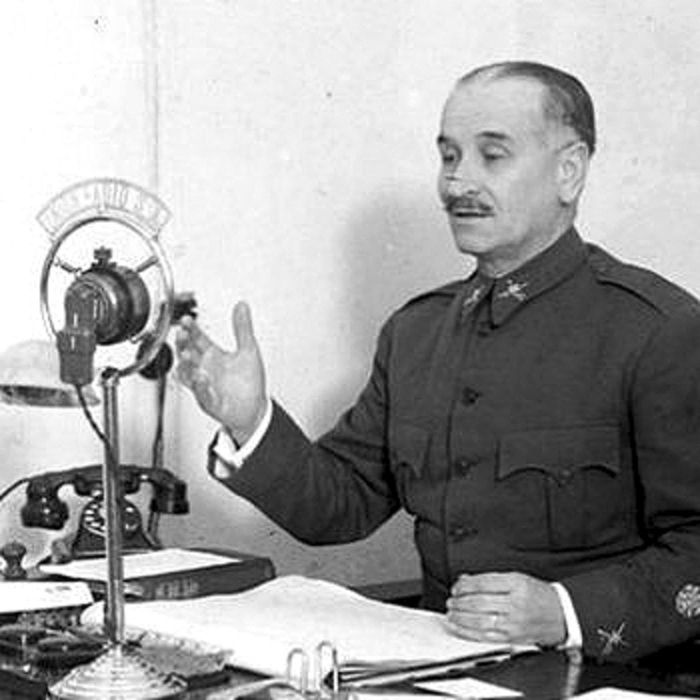 Arenga del General Queipo de Llano, desde Unión Radio Sevilla, año ...