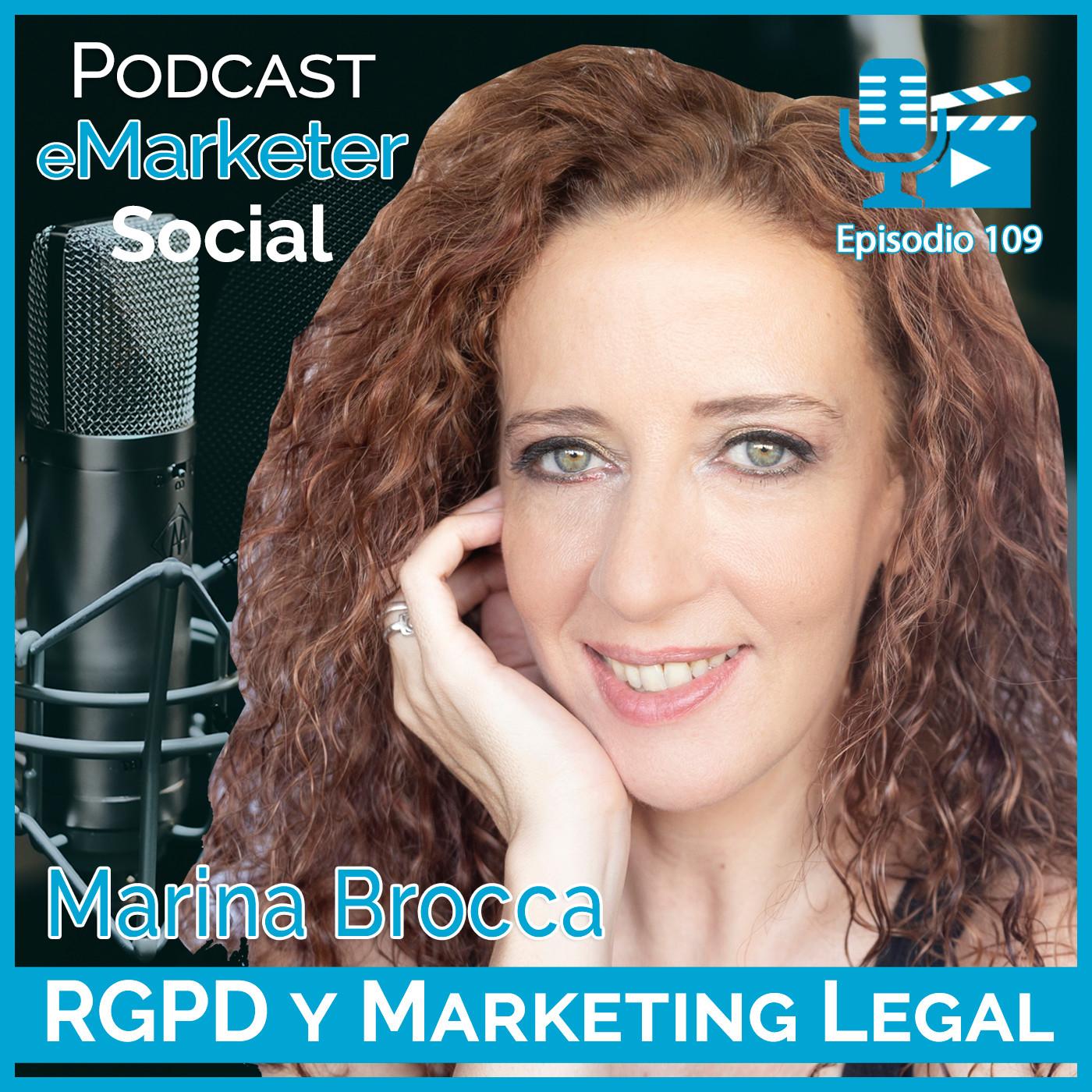 109 Marina Brocca especialista en protección de datos en Podcast eMarketerSocial