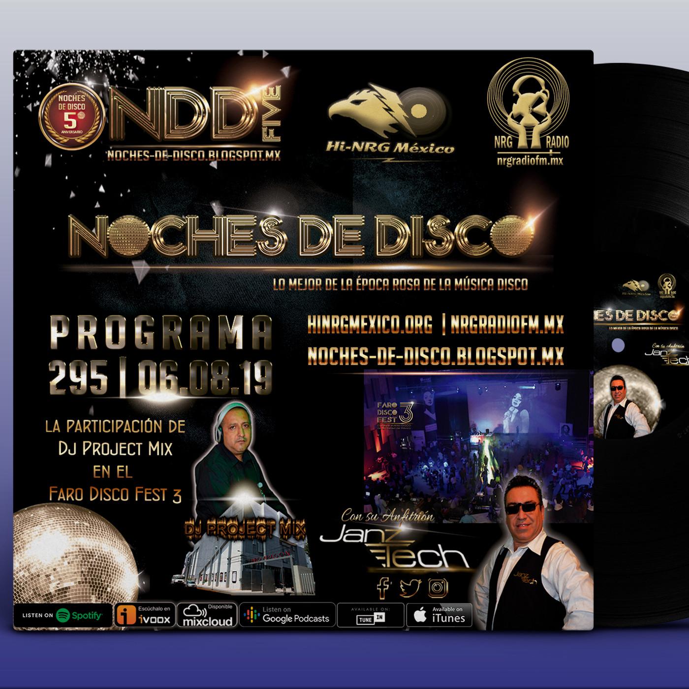 Noches de Disco | Programa 295 en Noches de Disco de NRG Radio FM en