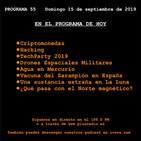 El Cronovisor. Programa 55. Criptomonedas, Hacking, Drones Espaciales Militares...