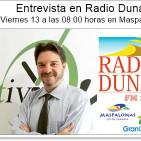 Entrevista en Radio Dunas por Daniela