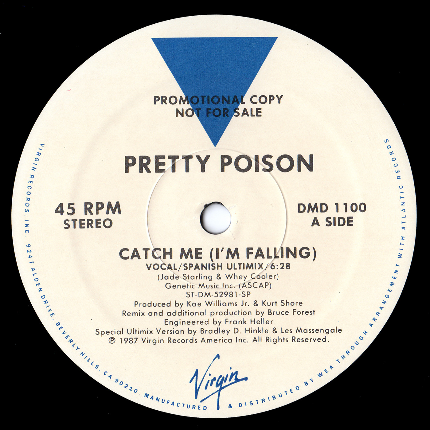 Pretty Poison - Catch Me (I'm Falling) (Vocal Spanish Ultimix) (US