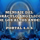 Revelaciones del orÁculo angÉlico , sobre el portal 4.4.4