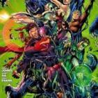 La Viñeta. Liga de la Justicia y Captain Sky en el mundo un poco zombi.