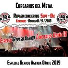 Corsarios - Repaso Agenda Otoño 2019 - Domingo 8 Sept 19