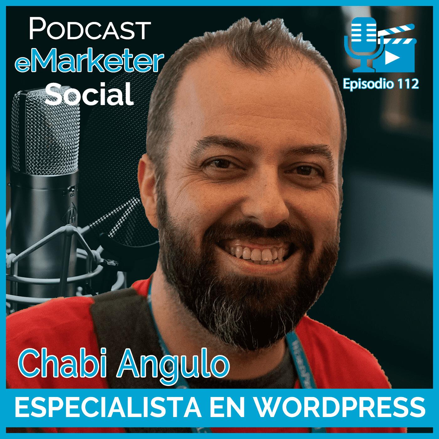 112 Chabi Angulo Freelance trabajando con WordPress en Podcast eMarketerSocial