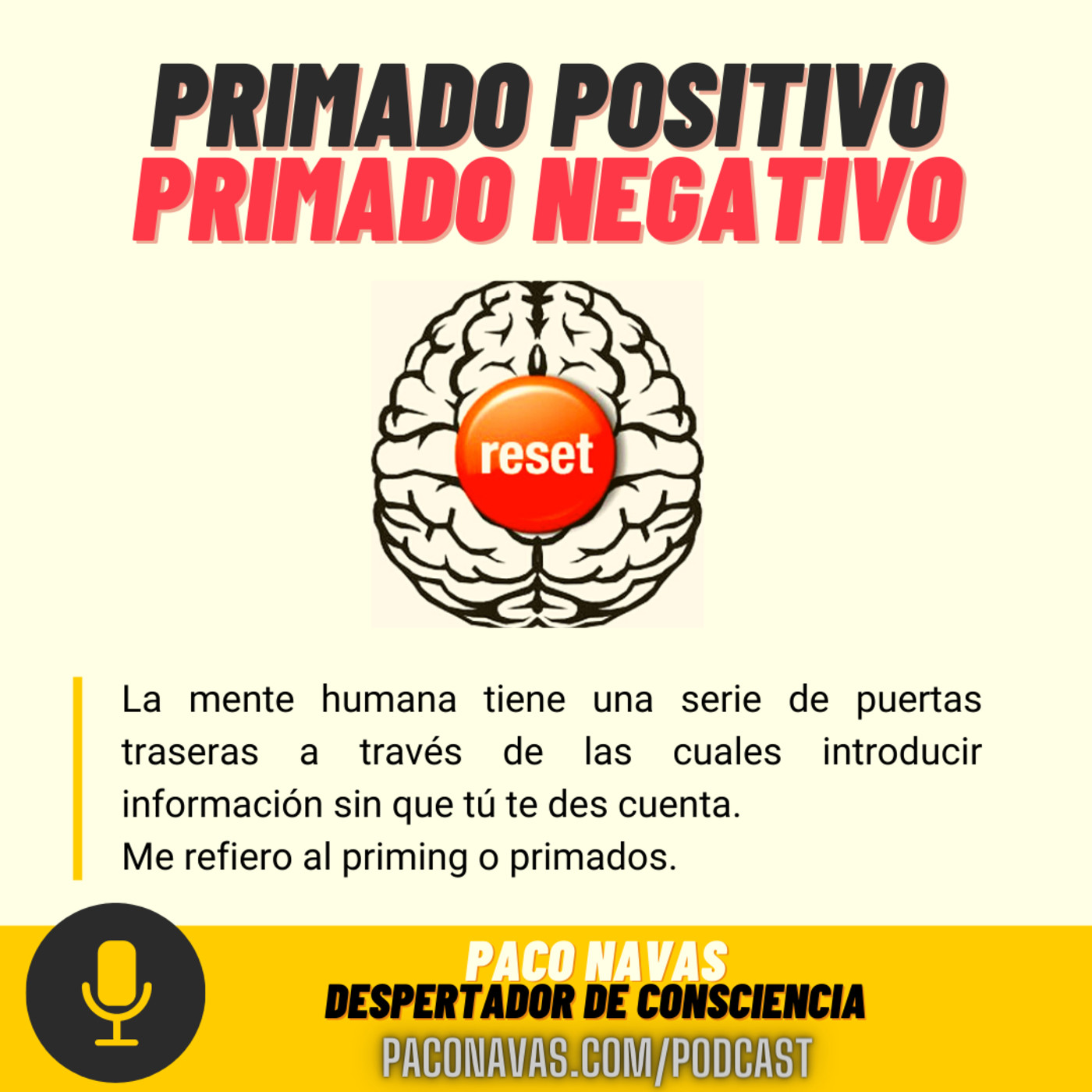 Primado Positivo y Primado Negativo 😦 El arte de que sepas algo sin saberlo