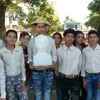 Pioneros en Cárdenas rinden tributo a José Martí