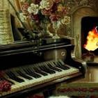 1 Hora cerca de la chimenea al lado del piano, sonido calmante para dormir
