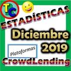 ESTADÍSTICAS CROWDLENDING - Oleada Diciembre 2019 - Volumen de negocio, inversores registrados, rentabilidad...