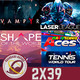 GR (2x39) Vampyr, Laser League, Comparativa Tennis World Tour/Mario Tennis Ace, Shape of the World