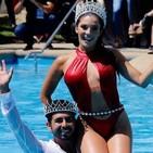 Piscinazo de los reyes. ( Hernán Arcil y Chantal Gayoso (). Festival de Viña del Mar 2019.