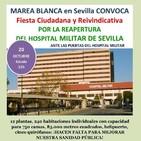 Llamamiento a la movilización por la reapertura del Hospital Miltar de Sevilla
