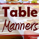 Podcast about table manners