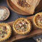 Tartaletas de queso Grana Padano y nueces