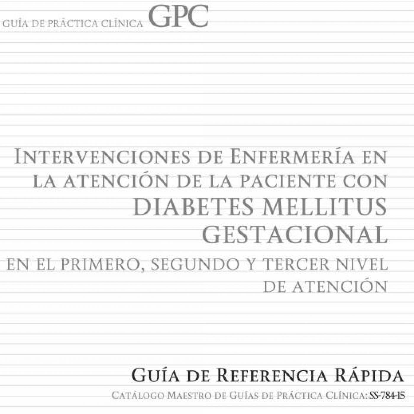guia practica clinica diabetes mellitus diabetes gestacional