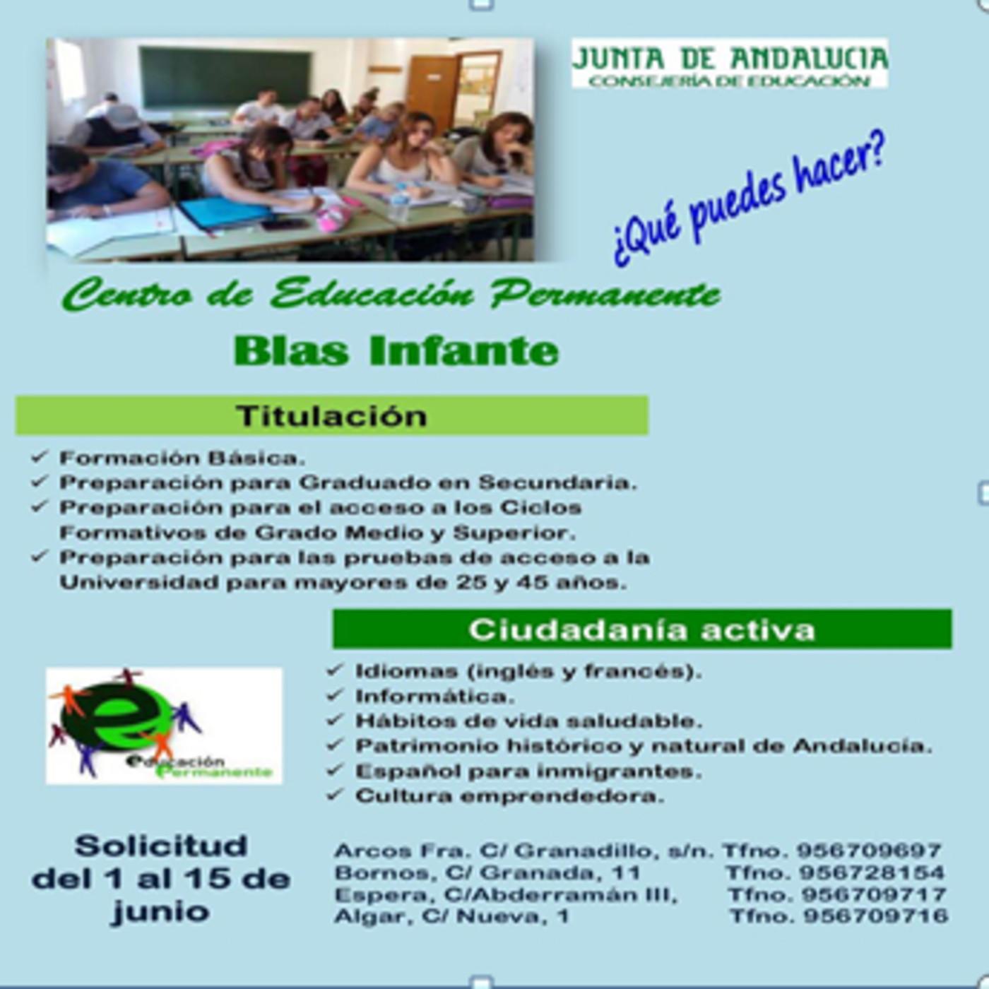 Cursos Formativos Del Centro De Educación Permanente Blas
