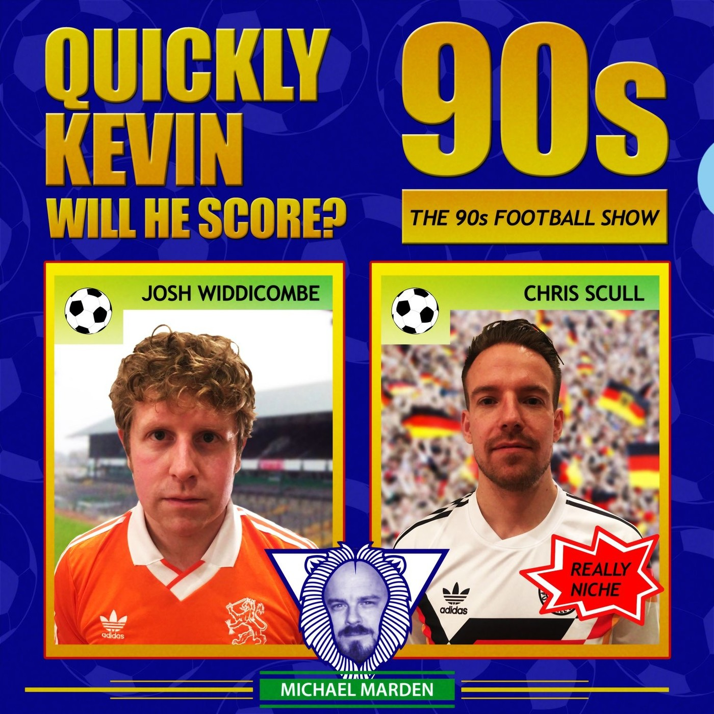 Quickly Kevin; will he score? The 90s Football Sho